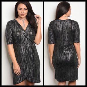 C.O.C Black & Silver Party Dress 2X